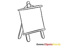 Tableau clip arts à imprimer – Bureau illustrations