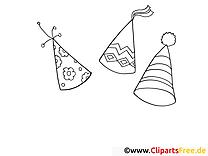 Chapeaux dessin – Coloriage mardi gras à télécharger