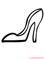 Chaussure clip art gratuit – Mardi gras à colorier