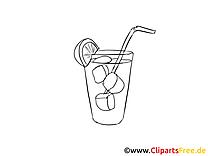 Cocktail dessin – Coloriage mardi gras à télécharger