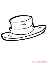 Coloriage chapeau mardi gras image à télécharger
