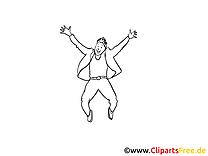 Coloriage homme mardi gras illustration à télécharger