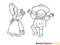 Costumes image – Mardi gras images à colorier