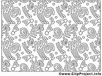 Décoration clip art – Mardi gras image à colorier