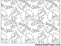 Décoration dessin – Mardi gras gratuits à imprimer