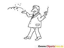 Fumeur dessin – Mardi gras gratuits à imprimer