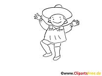 Mexicain illustration – Mardi gras à imprimer