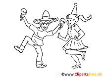 Mexicains image gratuite – Mardi gras à imprimer