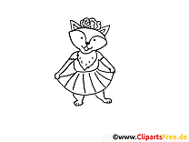 Renard images gratuites – Mardi gras à colorier