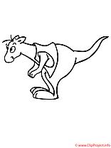 Kangourou coloriage