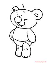 L'ours de peluche coloriage