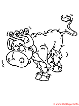 Vache coloriage