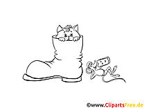 Botte illustration – Chats à imprimer