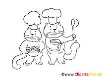 Cuisiniers clip arts – Chats à imprimer