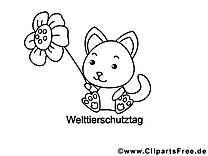 Fleur illustration – Chats à colorier