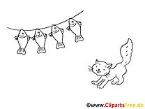 Poissons dessin – Chats gratuits à imprimer