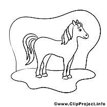 Cavale dessin – Cheval gratuits à imprimer