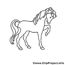Cavale dessin – Coloriage cheval à télécharger