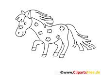 Clip art gratuit cavale – Cheval à imprimer