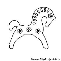 Clip art gratuit figure – Cheval à imprimer