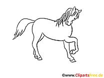 Dessin cavale – Cheval gratuits à imprimer
