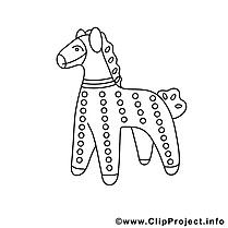 Dessin figure cheval gratuits à imprimer