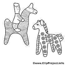 Figures image – Cheval images à colorier