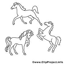 Images chevaux – Cheval gratuit à imprimer