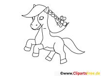 Jolie cavale image à télécharger – Cheval à colorier