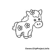 Petit cheval clip arts – Cavale à imprimer