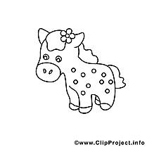 Poney image gratuite – Cheval à imprimer