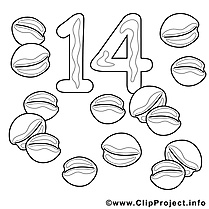 14 noix images – Nombres gratuit à imprimer