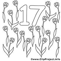 17 fleurs dessins gratuits – Nombres à colorier