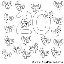 20 rubans cliparts gratuis – Nombres à imprimer