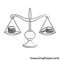 Balance clip art gratuit – Divers à colorier