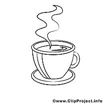 Café clipart gratuit – Divers à colorier