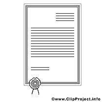 Certificat clip art – Divers image à colorier
