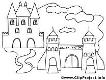 Château images à  imprimer clipart gratuit