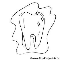 Dent illustration – Coloriage divers cliparts
