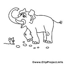Éléphant image – Divers images à colorier