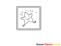 Étoile dessins gratuits – Divers à colorier