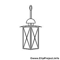 Lanterne dessin – Coloriage divers à télécharger