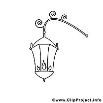 Lanterne dessin – Divers gratuits à imprimer