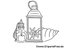 Lanterne image – Divers images à colorier