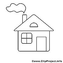 Maison clipart – Divers dessins à colorier