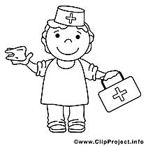 Médecin clip art – Divers image à colorier