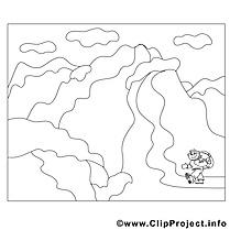 Montagnes image – Coloriage divers illustration
