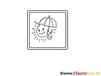 Parapluie images – Divers gratuit à imprimer