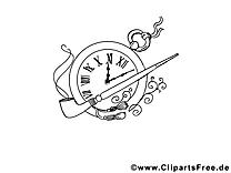Pipe réveil clip arts – Divers à imprimer