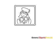 Prince clip art – Divers image à colorier